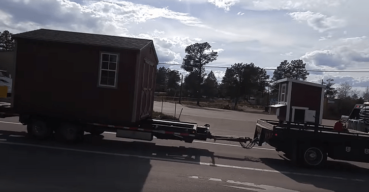 Delivering A Shed Structure to Mountain or Rural Properties is a Snap!